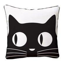 Big Eyes Cat Reversible Cotton Throw Pillow