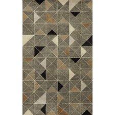 Fantasy Triangles Hand-Tufted Gray Area Rug