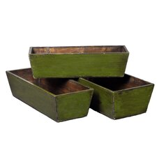 Pine Planter Box Set (Set of 3)
