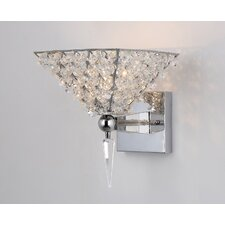 Hades 1-Light Crystal Armed Wall Sconce