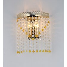 Dubai 1-Light Crystal Wall Lamp
