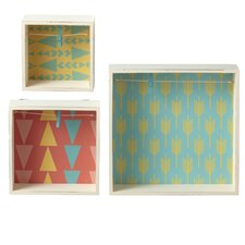 3 piece shadow box with clip picture frame set set of 3
