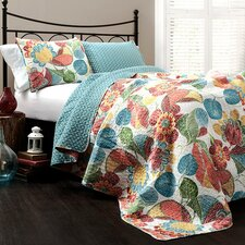 Carnuel 3 Piece Reversible Coverlet Set