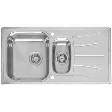 95cm x 50cm 1.5 Bowl Kitchen Sink