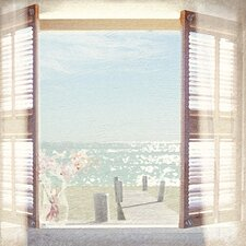 View Through Shutters by Malcolm Sanders Art Print on Canvas