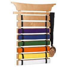 Martial Arts Belt Holder Wall Plaque