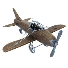 Urban Wooden Toy Replica Handcrafted Airplane Sculpture