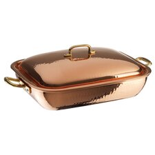 "13.88"" Copper and Tin Roasting Pan"