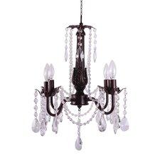Vinca 4-Light Crystal Chandelier