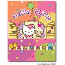 Teppich Hello Kitty in Rosa/Orange/Gelb
