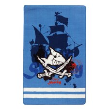 Motivteppich Capt'n Sharky in Blau