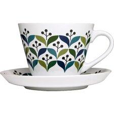 Retro Tea Cup with Saucer