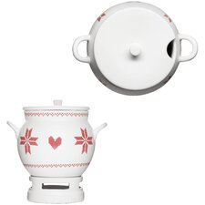 Xmas Mulled Wine Pot with Warmer