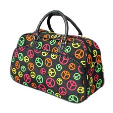 """Peace Sign 21"""" Carry-On Duffel"""