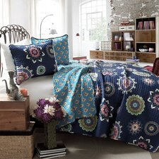 Campos 3 Piece Reversible Coverlet Set
