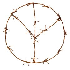 Decorative Barbed Wire Peace
