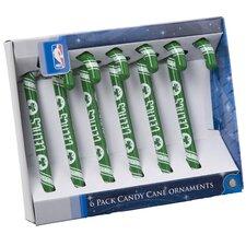 NBA Candy Cane Ornaments (Set of 6)