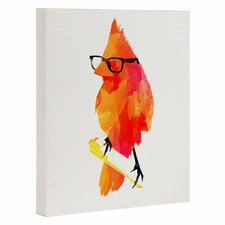 'Punk Bird' Graphic Art on Wrapped Canvas