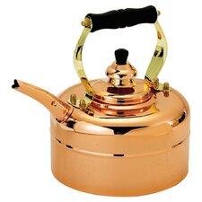 Copper 3 Qt. Tri Ply Windsor Whistling Tea Kettle