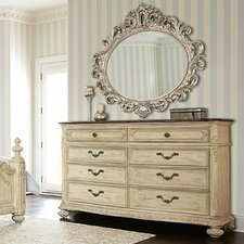 Jessica Mcclintock Boutique 8 Drawer Dresser with Mirror