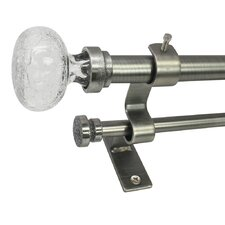 Tammi North Branch Crackle Knob Telescoping Double Curtain Rod and Hardware Set
