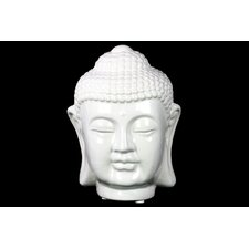 Ceramic Buddha Head Gloss White