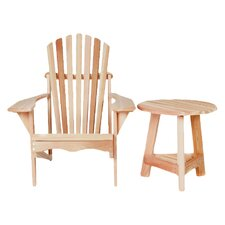 Tripod 2 Piece Adirondack Seat Group