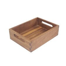 Teak Shelf Bathroom Accessory Tray