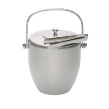 Bar Craft Ice Bucket with Lid & Tongs in Stainless Steel