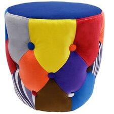 Colourful Drum Pouffe