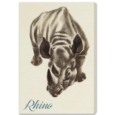 """Rhino"" by Olivia's Easel Canvas Art"