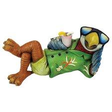 Just Chillin' Tiki Parrot Statue