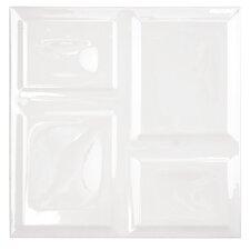 """Deco 8"""" x 8"""" Ceramic Field Tile in White"""