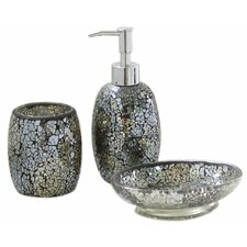Sparkle Mosaic 3-Piece Bathroom Accessory Set