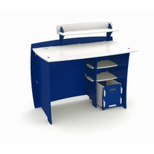 Race Writing Desk with Accessory Shelves and File Cart