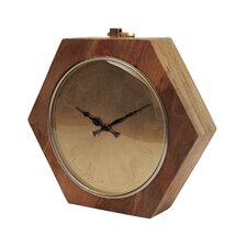 Wooden Hexagon Shaped Clock