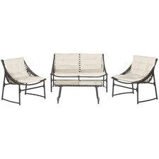 4 Piece Breanna Patio Group Set with Cushion