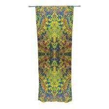Yellow Jacket Abstract Semi-Sheer Rod Pocket Curtain Panels (Set of 2)