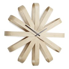 "Ribbonwood 21.25"" Wall Clock"