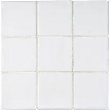 """Contour Square 3.75"""" x 3.75"""" Ceramic Field Tile in White"""