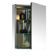 """20"""" x 26"""" Aluminum Medicine Cabinet with Mirrored Door"""