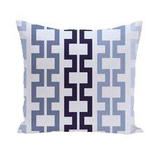 Cuff-Links Geometric Print Outdoor Pillow