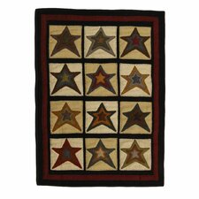 Penny Star Patch Black/Beige Area Rug