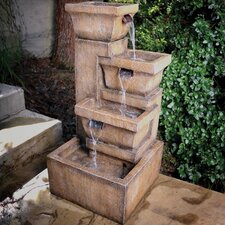 Resin Ashboro Zen Fountain with Light