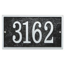 Fast and Easy 1-Line Wall Address Plaque