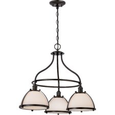 Sagamore 3-Light Shaded Chandelier