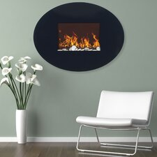 Oval Wall Mount Electric Fireplace