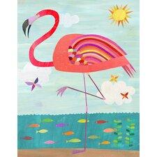 Flamboyant Flamingo Canvas Art