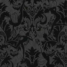 Illusions Forest Muses 33' x 20'' Damask Flocked Wallpaper