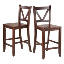 "Victor 23.98"" Bar Stool (Set of 2)"